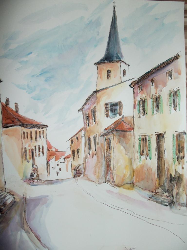gondreville (rue du château vue d en haut)
