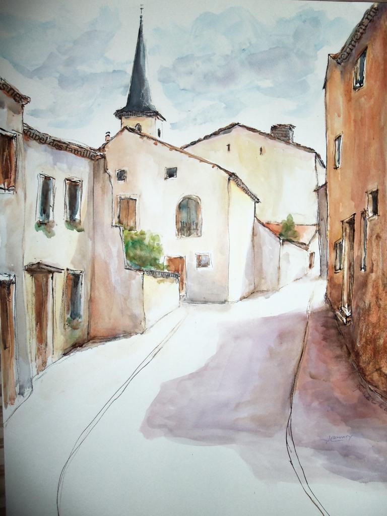 rue du château (vue d'en bas )gondreville