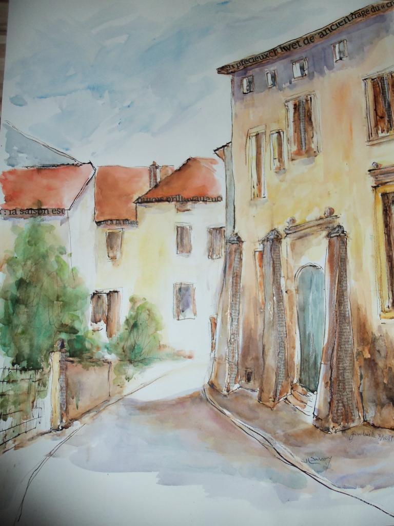 dessins nus aquarelles paysages toul choloy